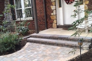 Block Entrance Steps and Paver Walkway